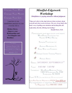 Mindful-Edgework Workshop @ MindBody Medicine Center | Scottsdale | Arizona | United States